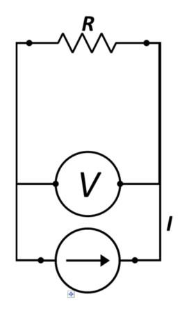 Simplified 2 point I_V measurement scheme