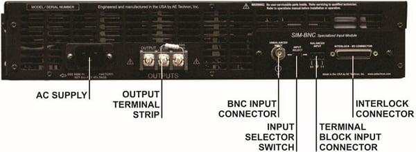 Amplifier Back Panel