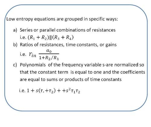 Middlebrook low entropy equations